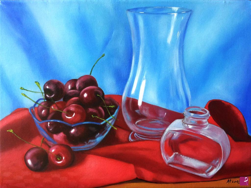 Vendita quadro red cherries diego atzori pitturiamo