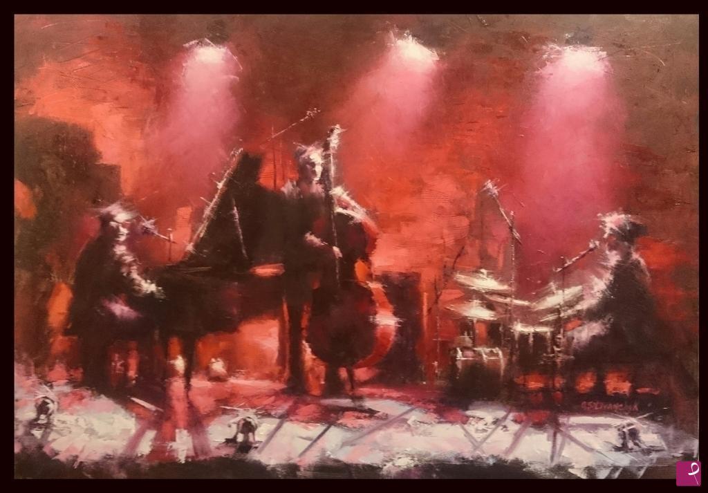 Vendita quadro red jazz olga silivanchyk pitturiamo