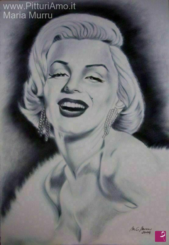 Vendita quadro - Ritratto di Marilyn Monroe 5 - Maria Cristina Murru ...
