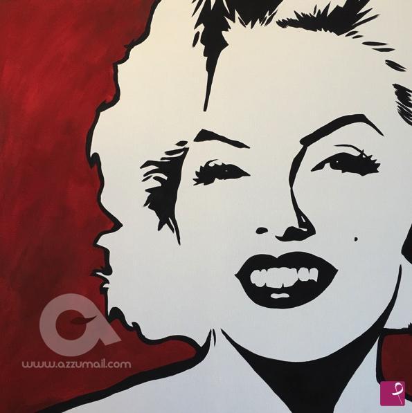Vendita quadro - Ritratto dipinto a mano quadro moderno Marilyn ...