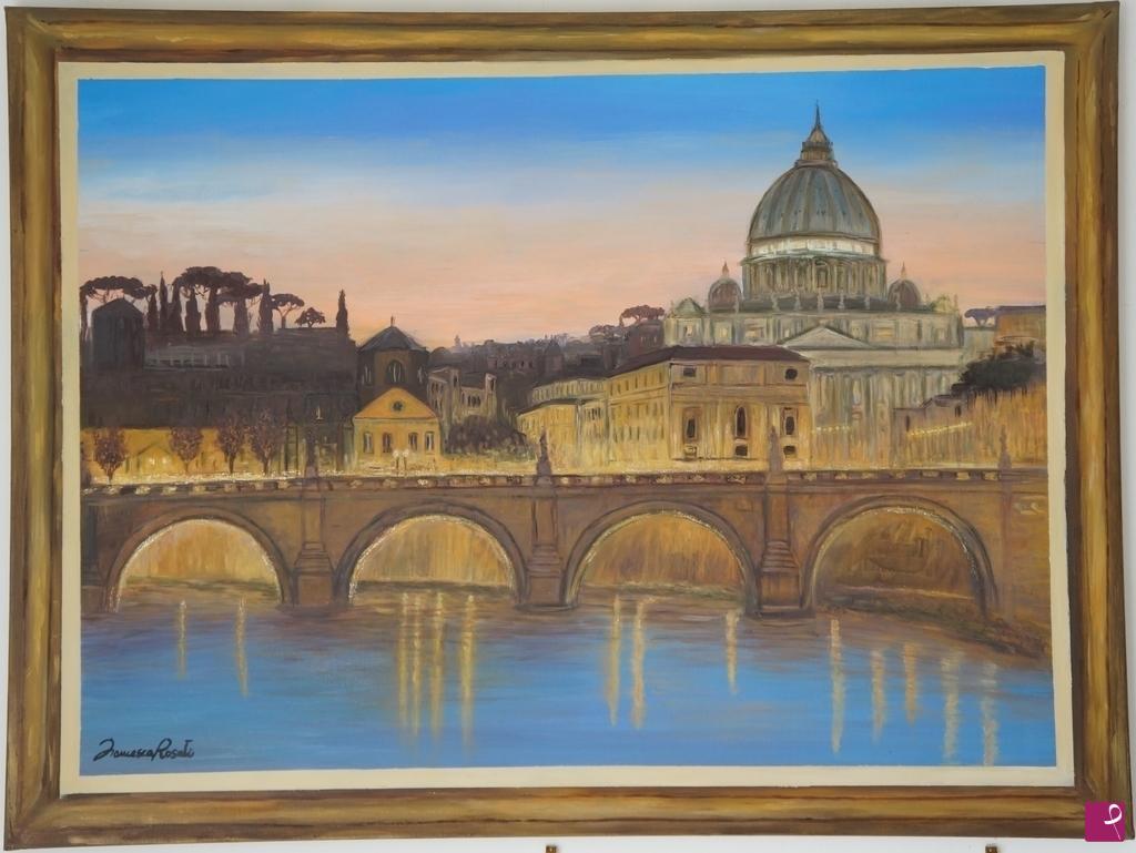 Vendita quadro - ROMA, CON CORNICE TROMPE-L\'OEIL - Francesca Rosati ...