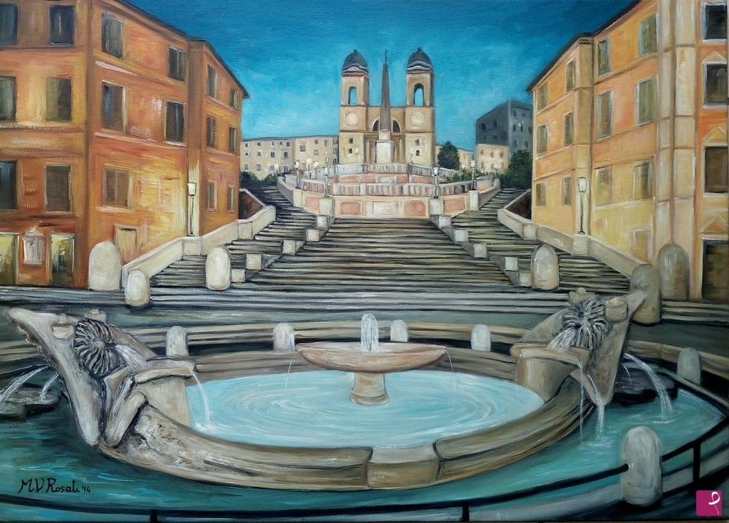Quadri Moderni Roma Vendita disponibile quadro - roma, piazza di spagna - maria vittoria