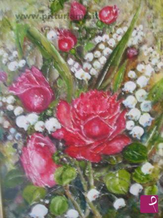 Egidia demurtas pittrice contemporanea pitturiamo for Quadri con rose rosse