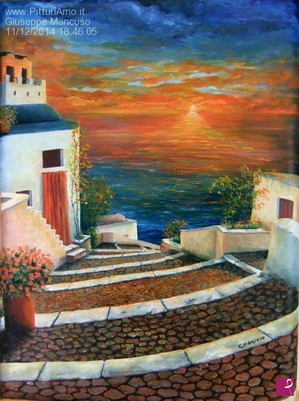 Vendita quadro santorini sunshine grecia giuseppe for Vendita acquari marini completi online