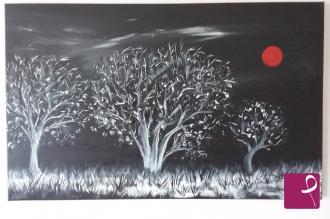 Vendita quadro impronte di luna natallia chushel pitturiamo®