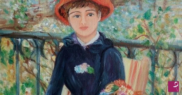 Vendita quadro - sulla terrazza cm 25x35 - Maria Vittoria Rosati ...