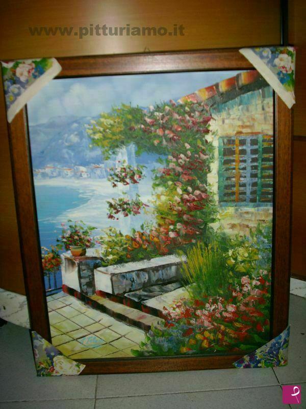 Vendita quadro - Terrazza in fiore sul mare - Gianluca Telese ...