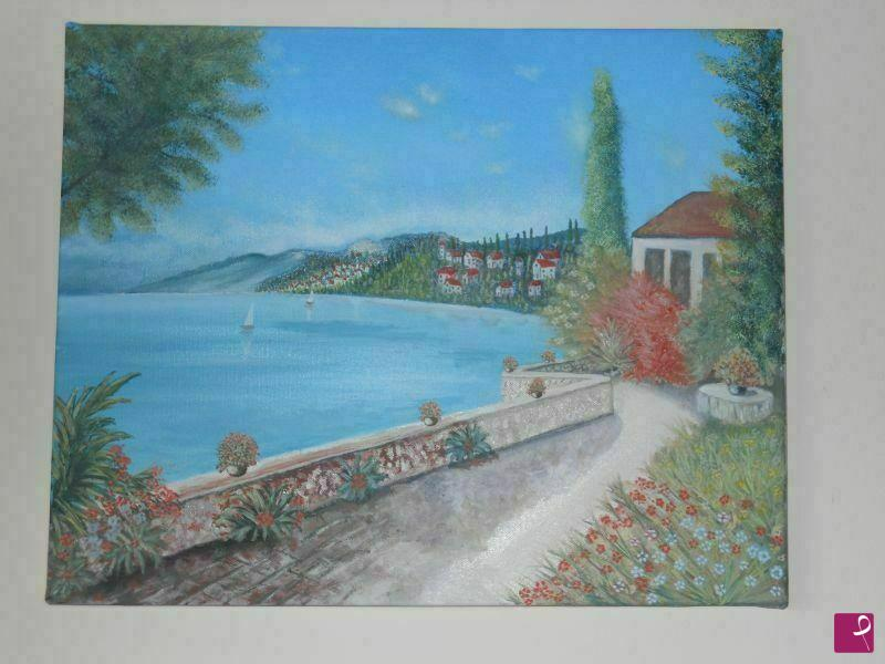 Vendita quadro terrazza sul mare marco di girolamo - Terrazzi sul mare ...