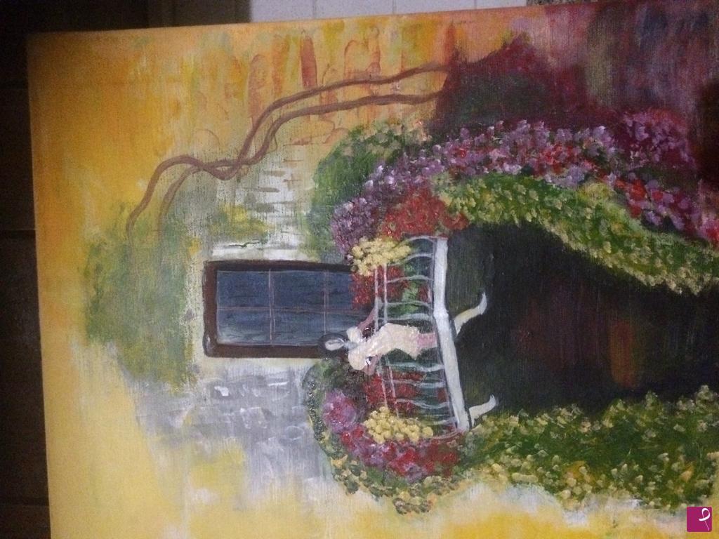 Vendita quadro - Terrazzo fiorito - Liana Brinzas | PitturiAmo®