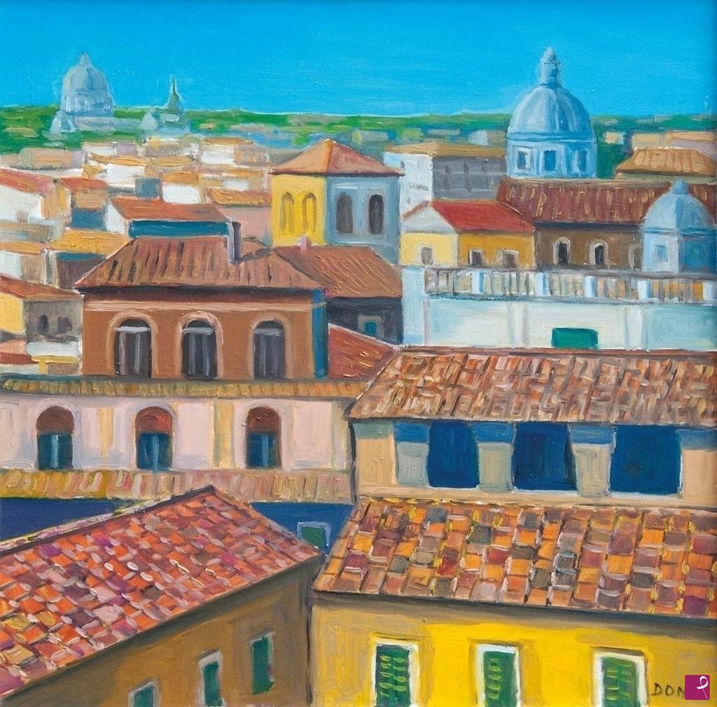 Quadri Moderni Roma Vendita disponibile quadro - tetti di roma - stefano donato