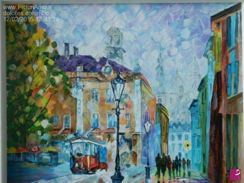 Vendita quadro - Tram a milano - Dolores Colombo | PitturiAmo®