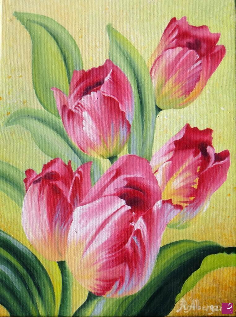 Vendita quadro - Tulipani - Rita Albergamo | PitturiAmo®