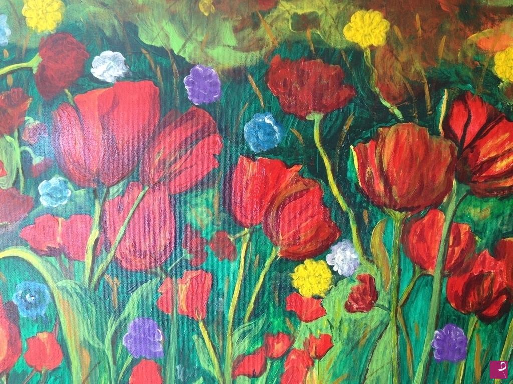 Vendita quadro - tulipani - Paolo Giacometti   PitturiAmo®