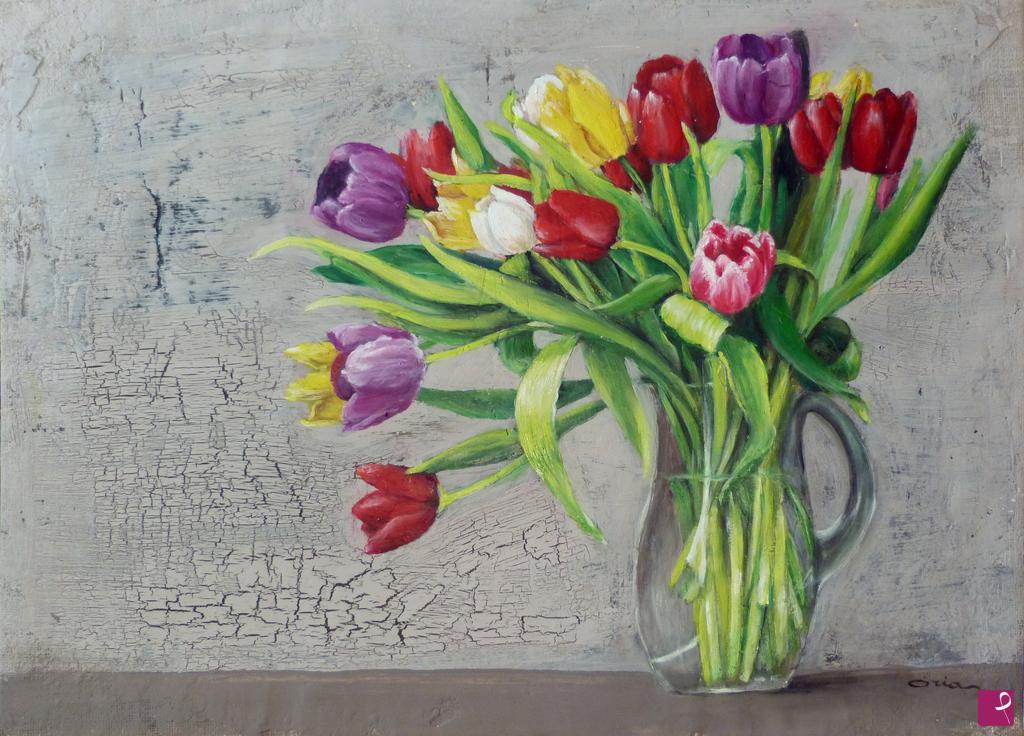Vendita quadro - Tulipani - Oria | PitturiAmo®