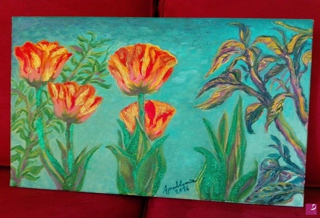 Vendita quadro - Tulipani rossi e gialli - Apollonia Grammatico ...