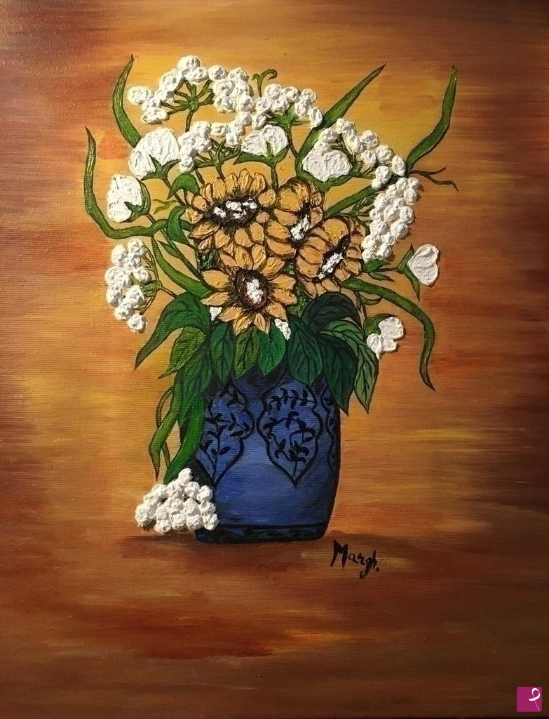 disponibile quadro - Vaso con fiori - Margherita Masuzzo ...