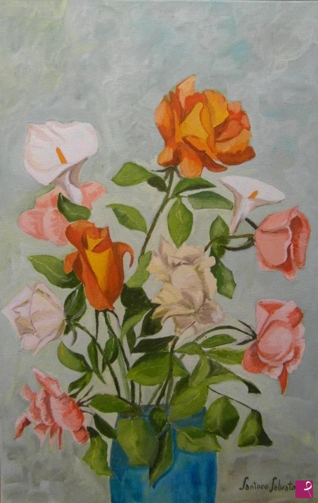Vendita quadro - Vaso con fiori - Salvatore Santoro | PitturiAmo®