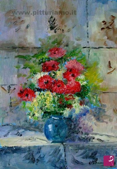 Quadri moderni pitturiamo for Quadri olio fiori