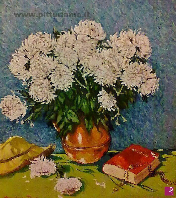 Vendita quadro vaso di crisantemi daniele oppo - Crisantemi in vaso ...