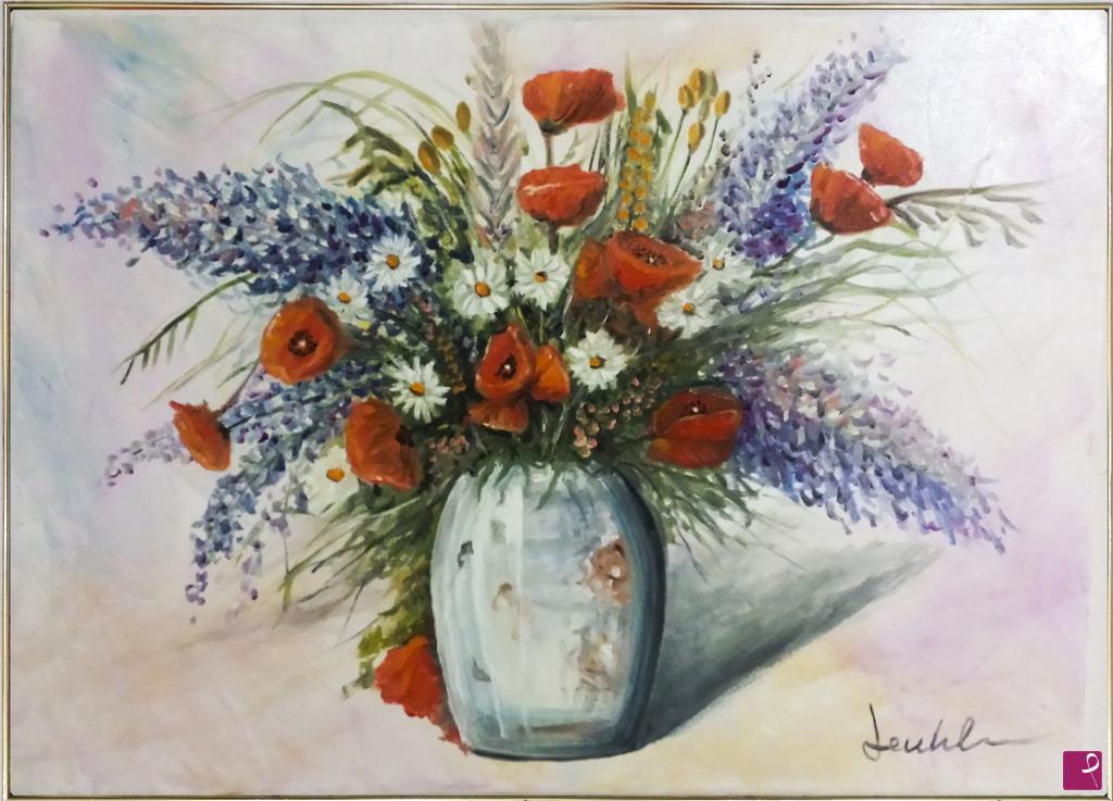Vendita quadro vaso di fiori luca gentile pitturiamo for Quadri a olio fiori