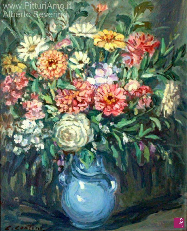 Vendita quadro vaso di fiori alberto severino for Quadri di fiori