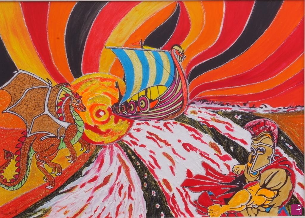 Vendita quadro vichinghi francesco navacchi pitturiamo