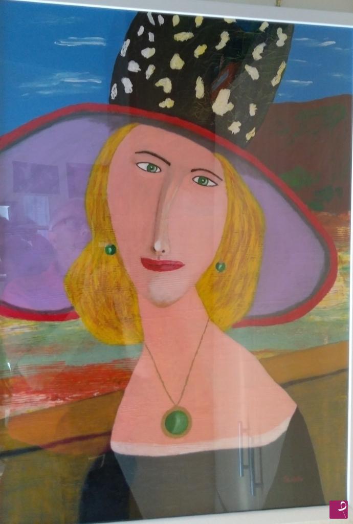 Vendita Quadro Viso Di Donna Stilizzato Con Cappello Francesco