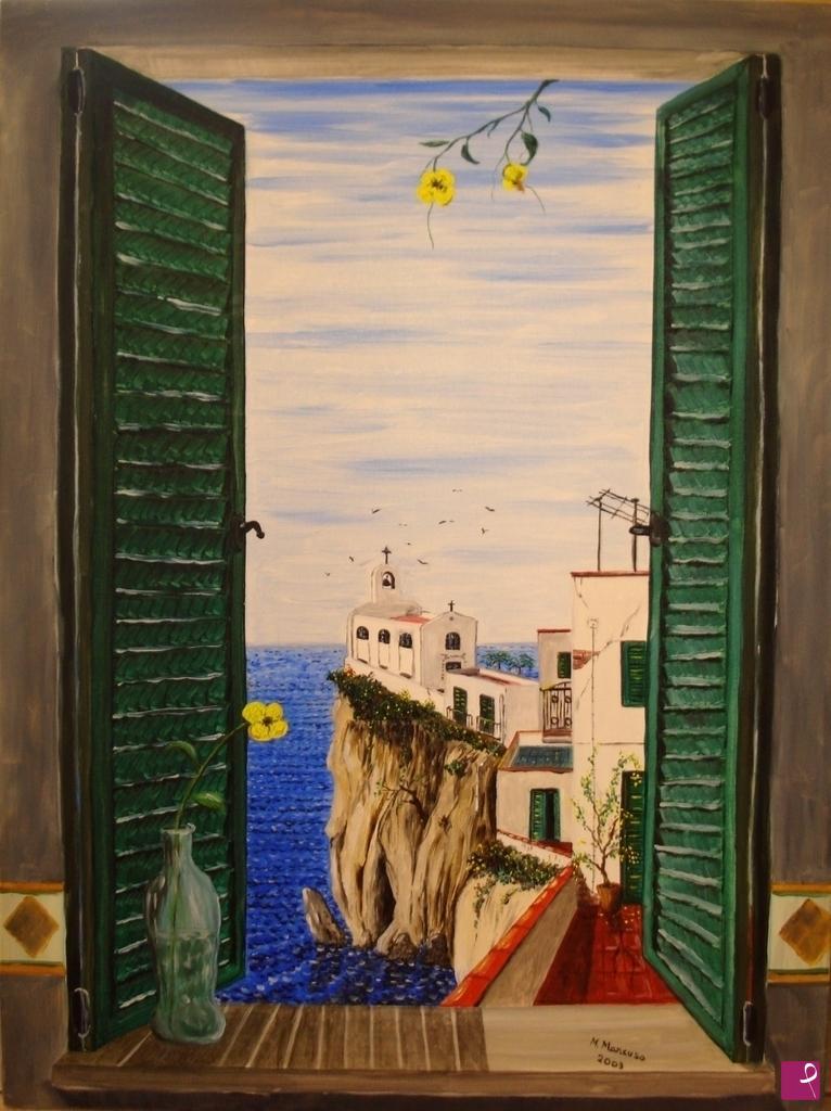 Vendita quadro vista dalla finestra massimo mancuso - Quadro finestra ...