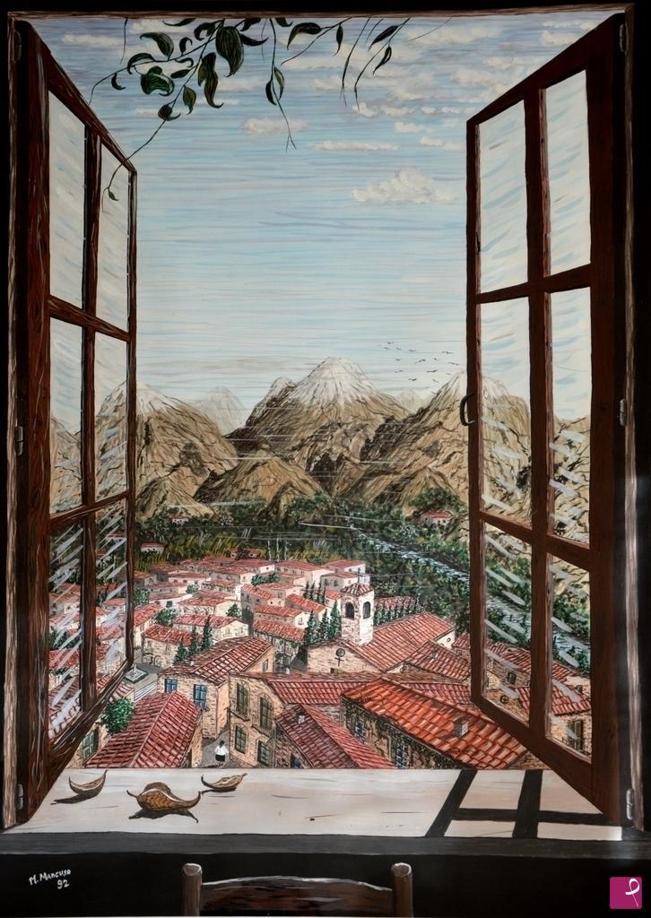 Vendita quadro vista dalla finestra le montagne - Quadro finestra ...