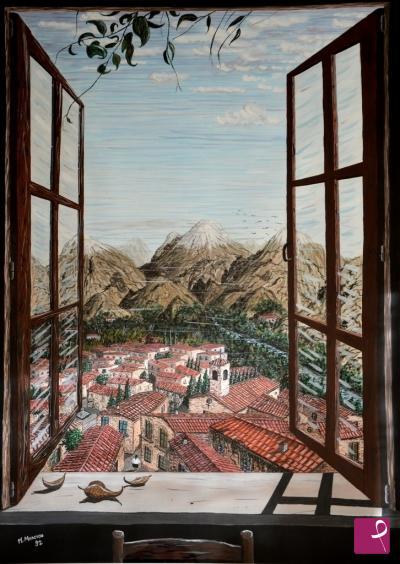 Quadri moderni pitturiamo - Quadro finestra ...